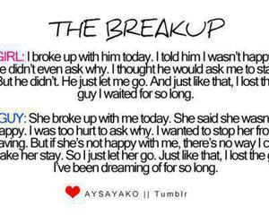 love, sad, and breakup image