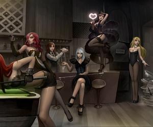 league of legends, Katarina, and ahri image