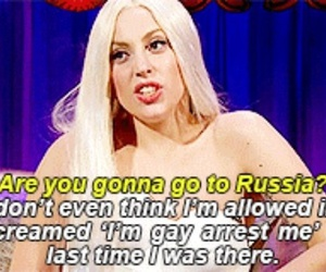 russia, gays, and Lady gaga image