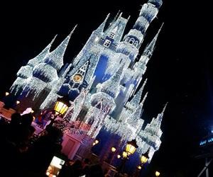 disney, night, and magic kingdom image