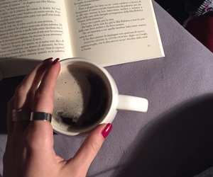 book, relax, and tea image
