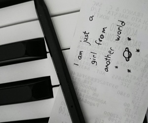 black and white, piano, and tumblr image