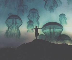 art, jellyfish, and nature image