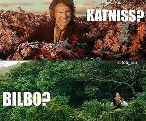 bilbo, katniss, and hunger games image