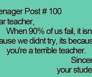 teenager post, school, and teacher image