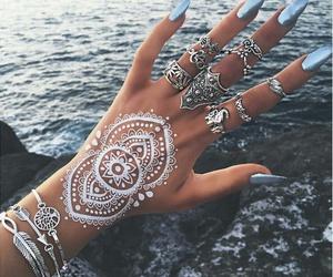 nails, henna, and rings image