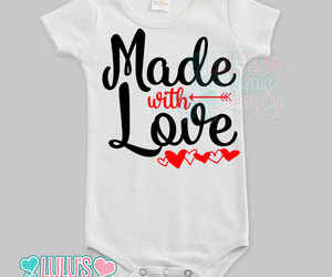 etsy, baby girl clothes, and made with love image