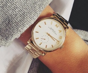 watch, marc jacobs, and gold image