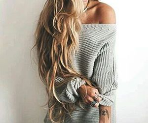 hair, style, and tumblr image