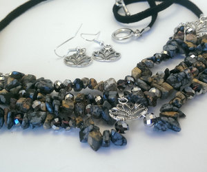 beaded necklace, jewelry, and statement necklaces image
