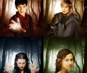 merlin, morgana, and arthur image