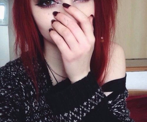 hair, tumblr, and redhair image