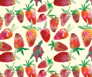 strawberry, wallpaper, and pattern image