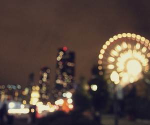 blurry, bokeh, and chicago image