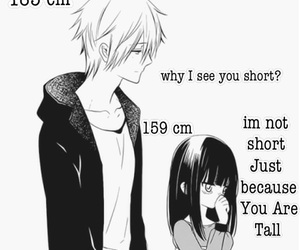anime, short, and tall image