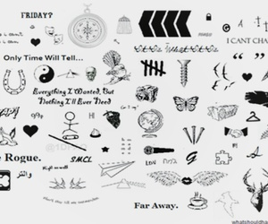one direction, 1d, and Tattoos image