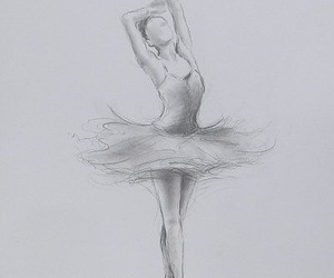 ballerina, dance, and sketches image