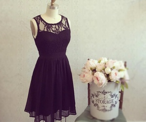azul, dress, and flowers image