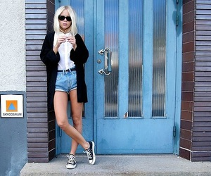 blonde, nice, and converse image