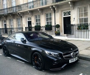 car, black, and mercedes benz image