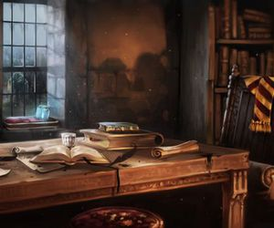 harry potter, hogwarts, and common room image