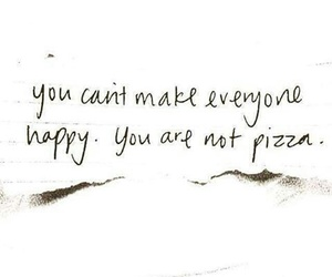 pizza, quotes, and happy image