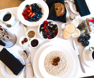 food, hotel, and blueberry image