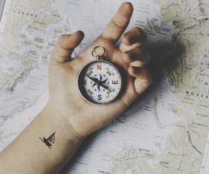 compass, map, and travel image