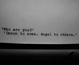 angel, demon, and quotes image