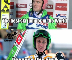 funny, ski jumping, and severin freund image