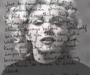 quote, Marilyn Monroe, and black and white image