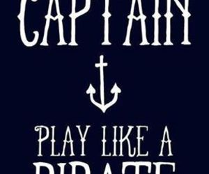 pirate, captain, and quote image