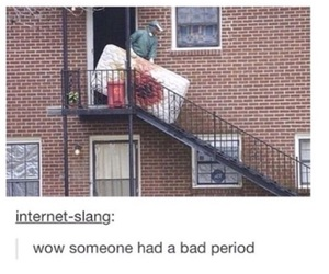 funny, period, and blood image