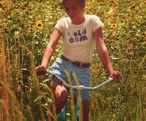 girl, summer, and bike image