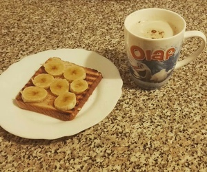 banana, olaf, and coffee image