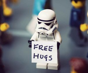 hug, star wars, and free image