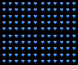 black, blue, and hearts image