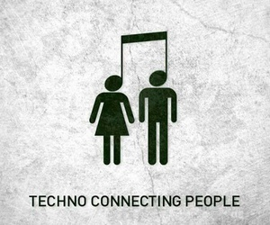 techno, music, and people image