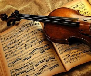 violin, music, and notes image
