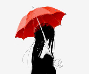 girl, umbrella, and anime image