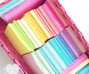 pastel post its and pretty post its image