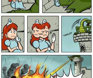 funny, princess, and dragon image