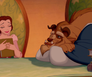 beauty and the beast, princess, and prince adam image