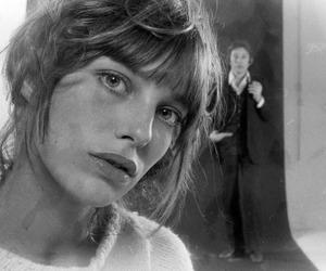 jane birkin and black and white image