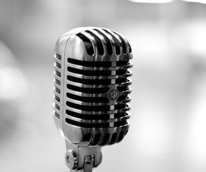 microphone, sing, and music image