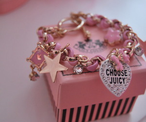 pink, juicy couture, and bracelet image
