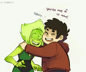 peridot, steven universe, and crystal gems image
