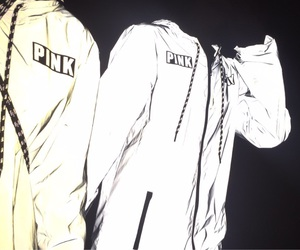 black and white and reflective jacket image