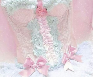 pink, corset, and pretty image