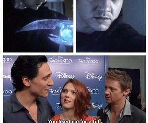 jeremy renner, tom hiddleston, and Avengers image
